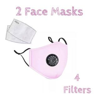🔸DEAL🔸2 Pink Washable Face Cover Mask Cotton